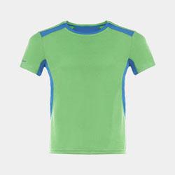 【男子】撞色轻质网眼透气运动T恤-活力绿