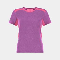 【女子】撞色轻质网眼透气运动T恤-跃动紫