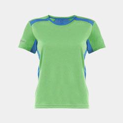 【女子】撞色轻质网眼透气运动T恤-活力绿