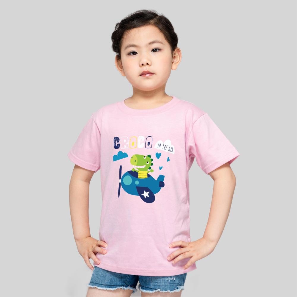 【儿童】柔软舒适全棉T恤-蜜桃粉