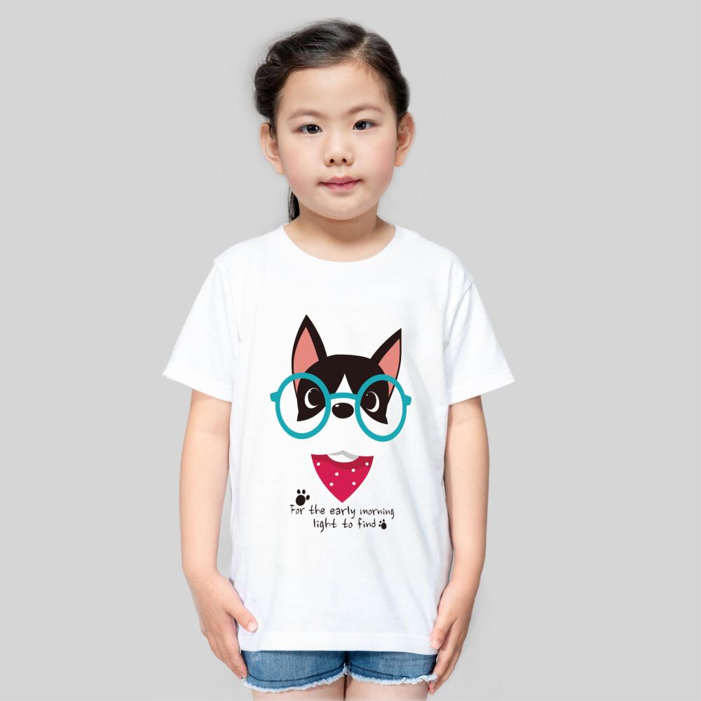 【儿童】柔软舒适全棉T恤-优雅白