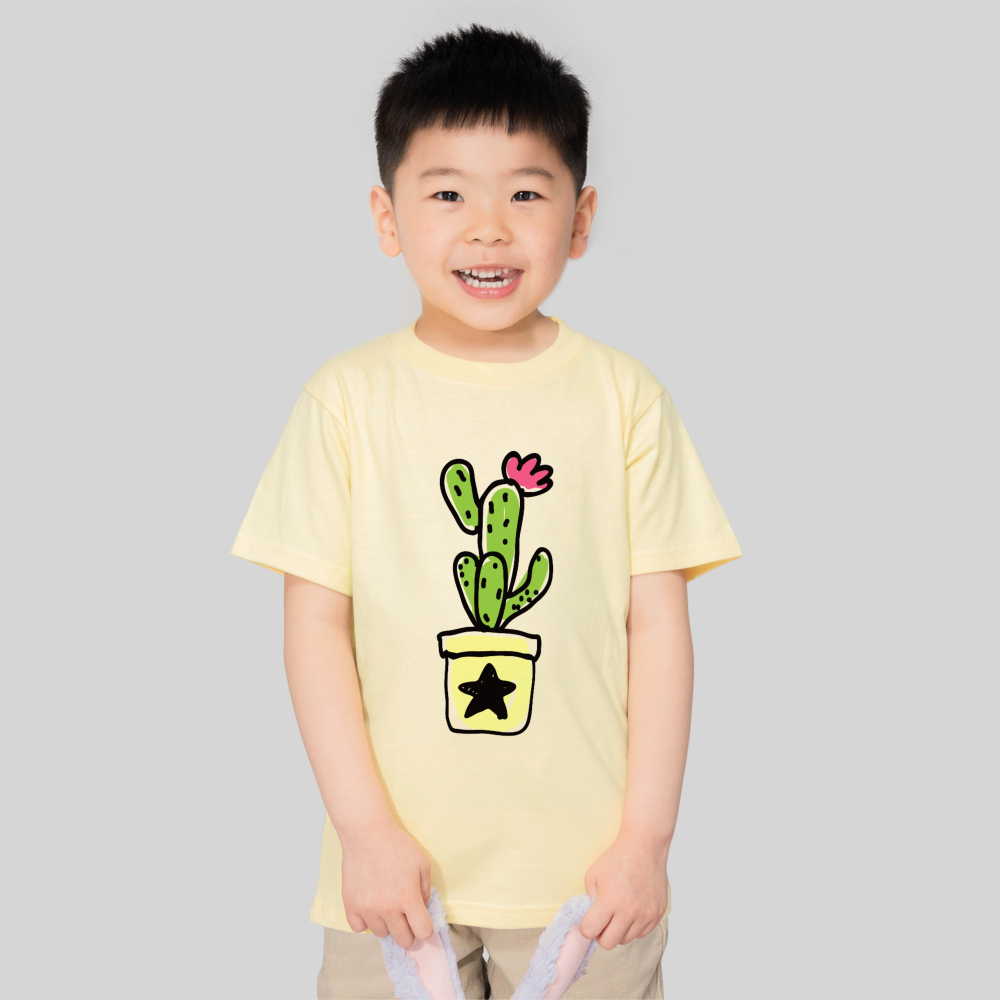 【儿童】柔软舒适全棉T恤-鹅蛋黄