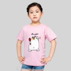 【CCG DIY专供】儿童-柔软舒适全棉T恤-蜜桃粉