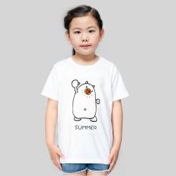 【CCG DIY专供】儿童-柔软舒适全棉T恤-优雅白