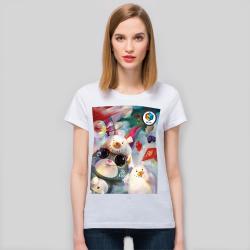 【CCGXBarbukii】女款-全棉白T恤