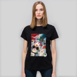 【CCGXBarbukii】女款-全棉黑T恤
