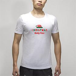 【男款】全棉舒适简约纯白T恤(热转印)