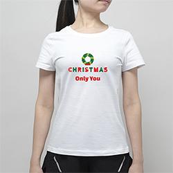 【女款】全棉舒适简约纯白T恤(热转印)